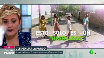 Las lágrimas de Cristina Pardo con el emocionante vídeo de despedida del equipo de Liarla Pardo al ritmo de 'Despídete'