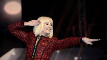 La cantante italiana Raffaella Carrà