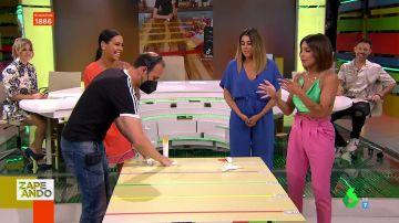 """Lorena Castell la lía en su primer reto en directo como presentadora entre los gritos del plató: """"¡No!"""""""