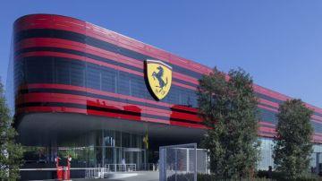 El edificio del nuevo simulador de Ferrari