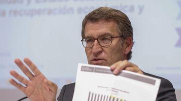 El presidente de la Xunta de Galicia, Alberto Núñez Feijoó