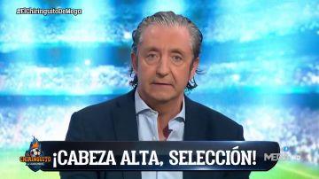 El discurso viral de Pedrerol tras la eliminación de España: