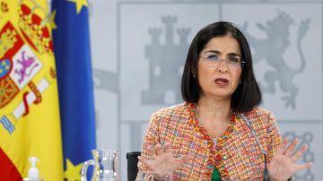 La ministra de Sanidad, Carolina Darias, ofrece una rueda de prensa tras la reunión del Consejo Interterritorial del Sistema Nacional de Salud