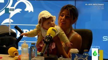 """El entrañable vídeo de Valeria Ros con su hija Federica que enamora a Santiago Segura: """"Se me cae la baba con esos mofletes"""""""
