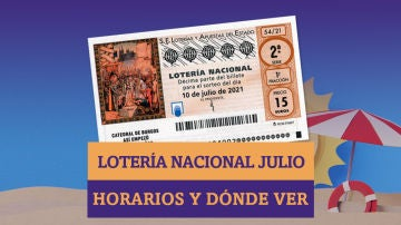 Horarios y dónde ver el Sorteo Extraordinario de Lotería Nacional de Julio