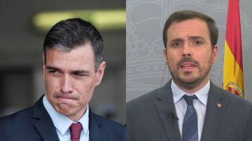 Pedro Sánchez, presidente del Gobierno, y Alberto Garzón, ministro de Consumo