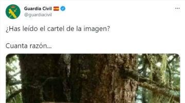 La Guardia Civil publica un cartel que no deja indiferente a nadie: recibe tantos aplausos como críticas