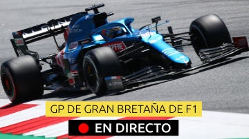 Fernando Alonso en el GP de Silverstone