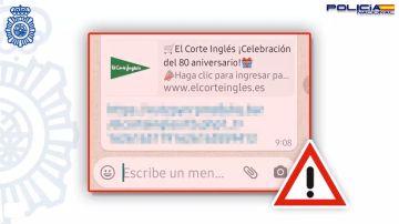 Atención a los mensajes de WhatsApp anunciando tarjetas regalo de 500 euros de El Corte Inglés y Alcampo: es una estafa