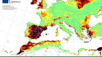 España, en riesgo extremadamente anómalo de incendios