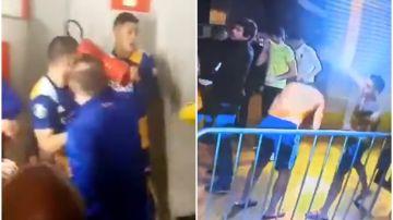 Mineiro ganó a Boca en la Libertadores y acabó en batalla campal