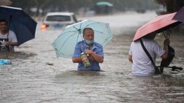 Inundaciones en Zhengzhou, China