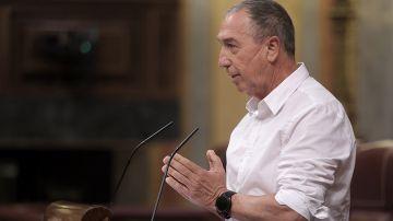 El diputado de Compromís, Joan Baldoví, interviene en una sesión plenaria en el Congreso de los Diputados, a 21 de julio de 2021, en Madrid