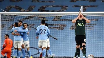 Kane, ante el Manchester City