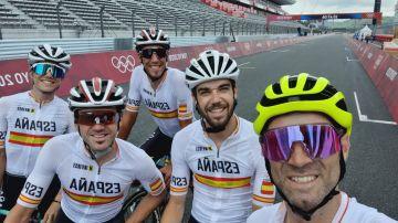 Selección española de ciclismo en Tokio