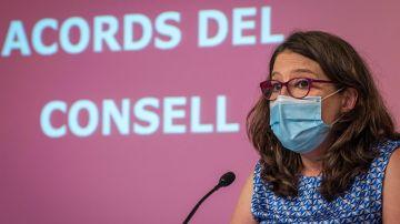 La vicepresidenta y portavoz del Consell, Mónica Oltra.