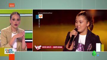 ¿Tiene predilección Eva González por algún concursante? La presentadora de La Voz responde en Zapeando