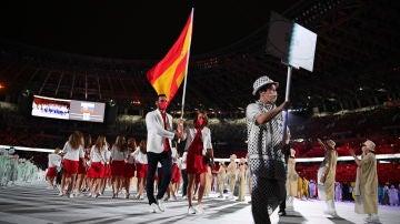 Así ha sido la ceremonia de apertura de los JJOO desde dentro de la expedición española