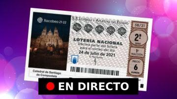 Sorteo Lotería Nacional: comprobar resultados de hoy, sábado 24 de julio, en directo