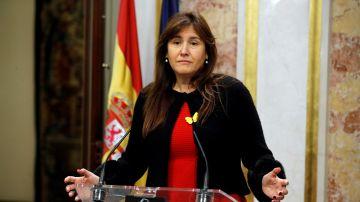 Laura Borrás, durante una comparecencia