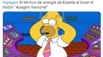 Imagen de un meme del apagón en España