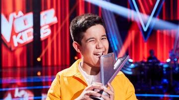Levi Díaz, ganador de la segunda edición de La Voz Kids