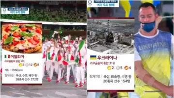 Una cadena surcoreana indigna al mundo con su retransmisión de la ceremonia inaugural de los JJOO