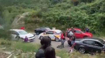 Una mujer, hospitalizada tras ser atropellada en el Rally Rías Baixas