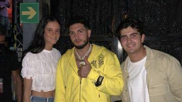Omar Montes, Victoria Federica y su novio, el dj Jorge Bárcenas.