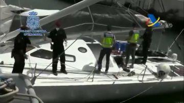 Intervienen una tonelada de cocaína oculta en un velero en medio del Atlántico