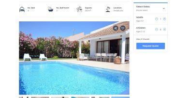 Imagen de un ejemplo de web de alojamiento fraudulenta