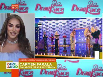 Carmen Farala, ganadora de Drag Race, desvela uno de los mayores secretos de la final del programa