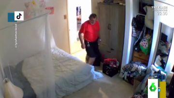 El indignante vídeo en el que un casero entra en la casa de su inquilina para oler sus cosas