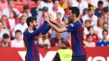 Messi y Busquets