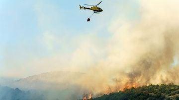 Imagen del incendio en El Tiemblo (Ávila)