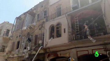 Edificio destruido en Beirut