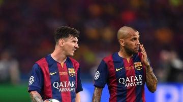 Leo Messi y Dani Alves