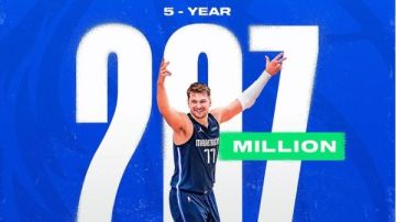 Doncic se hace de oro: 207 millones por 5 años en Dallas