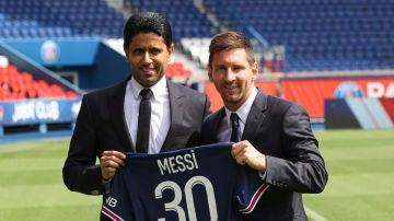 Al Khelaifi y Messi