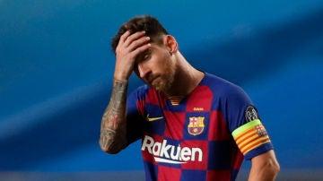 Messi, contrariado