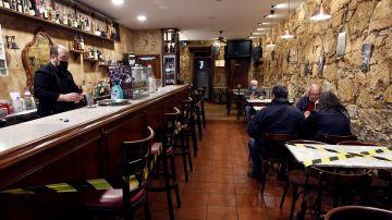 Interior de un bar en Ferrol