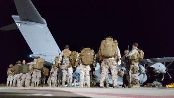 Militares españoles para la evacuación de Afganistán