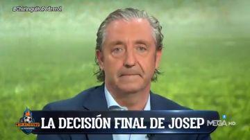 """El emotivo discurso de Josep Pedrerol en 'El Chiringuito' para anunciar su decisión: """"Me quedo"""""""