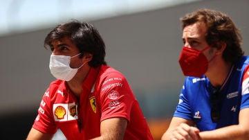 Carlos Sainz y Fernando Alonso