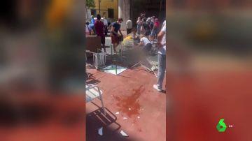 Atropello múltiple en una terraza de Ponferrada (León): un fallecido, cinco heridos graves y tres leves