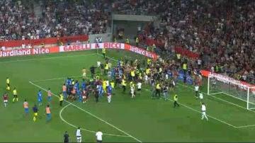 Invasión ultra en el Niza - Olympique de Marsella