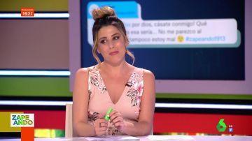 """Así reacciona Valeria Ros cuando le piden matrimonio en Zapeando: """"¡Por dios, cásate conmigo!"""""""