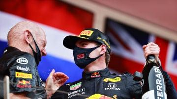 Adrian Newey y Max Verstappen