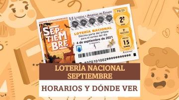 Horario y dónde ver el Sorteo Extraordinario de Lotería Nacional de Septiembre