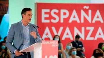 Pedro Sánchez en el acto en Jaén